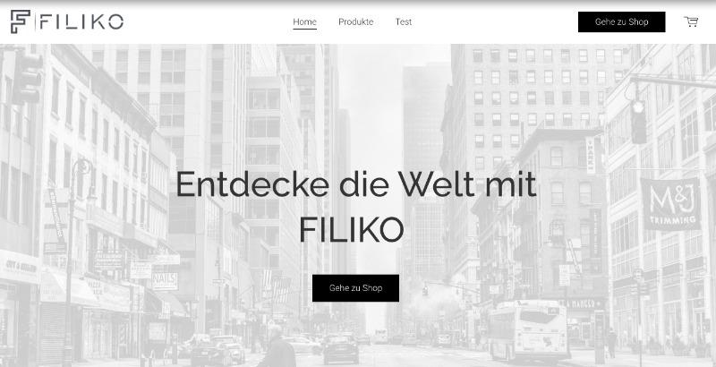 Jimdo online shop start seite