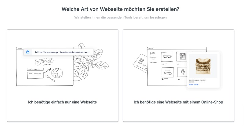 Weebly Onboarding seite